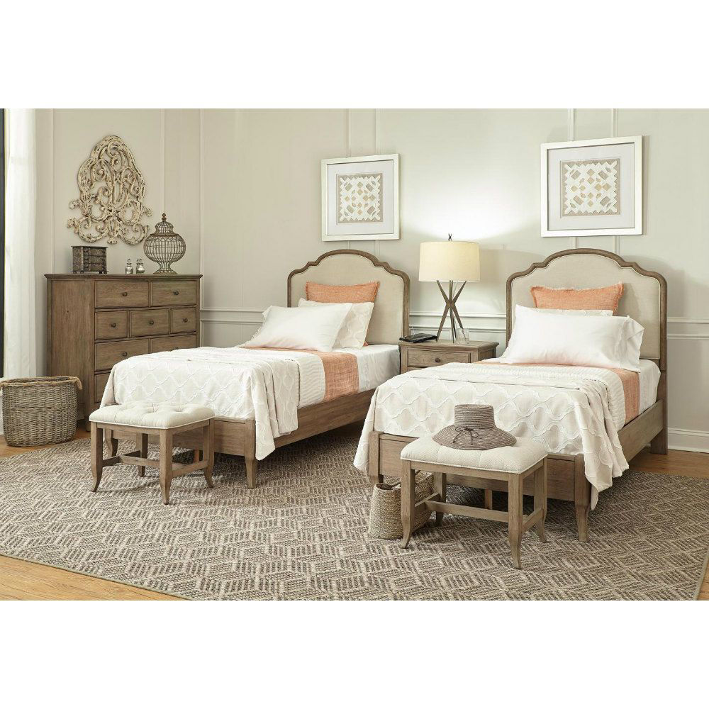 Provence Bed Bench - Twin Bed Pair