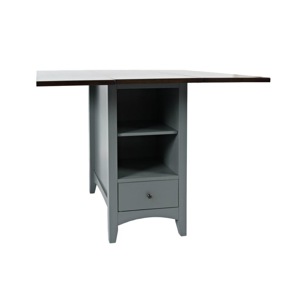 1816 Counter Table w/ Storage - Shelf Storage