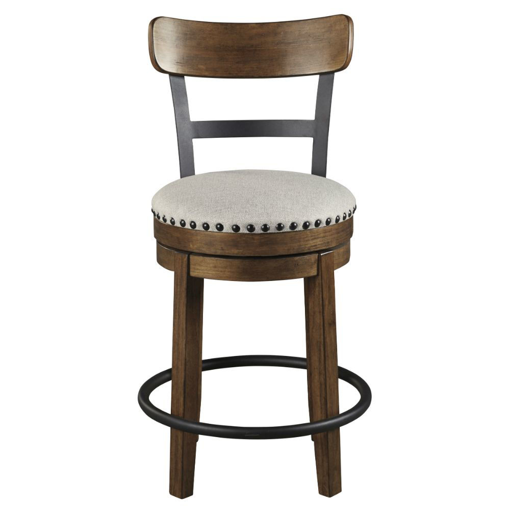 "Valebeck 24"" Stool - Brown - Front"