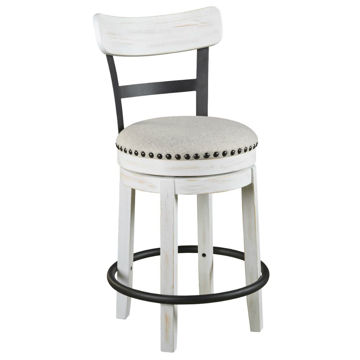 "Valebeck 24"" Stool - White"