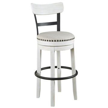 "Valebeck 30"" Stool - White"