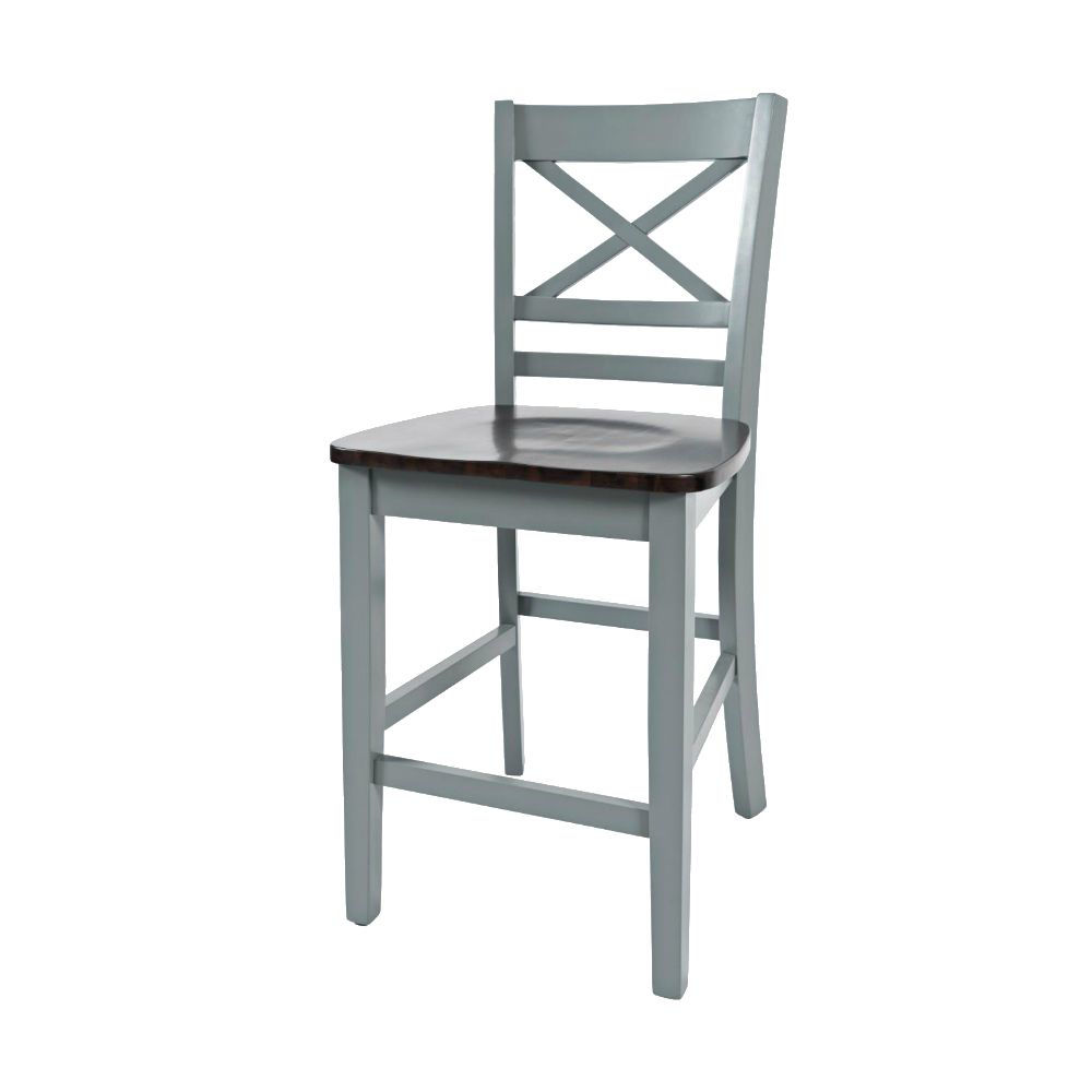 1816 Cross Back Stool - Angle