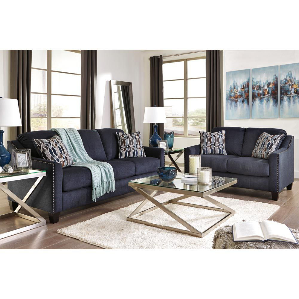 Axel Sofa - Ink - Lifestyle Shown WIth Loveseat Sold Separately