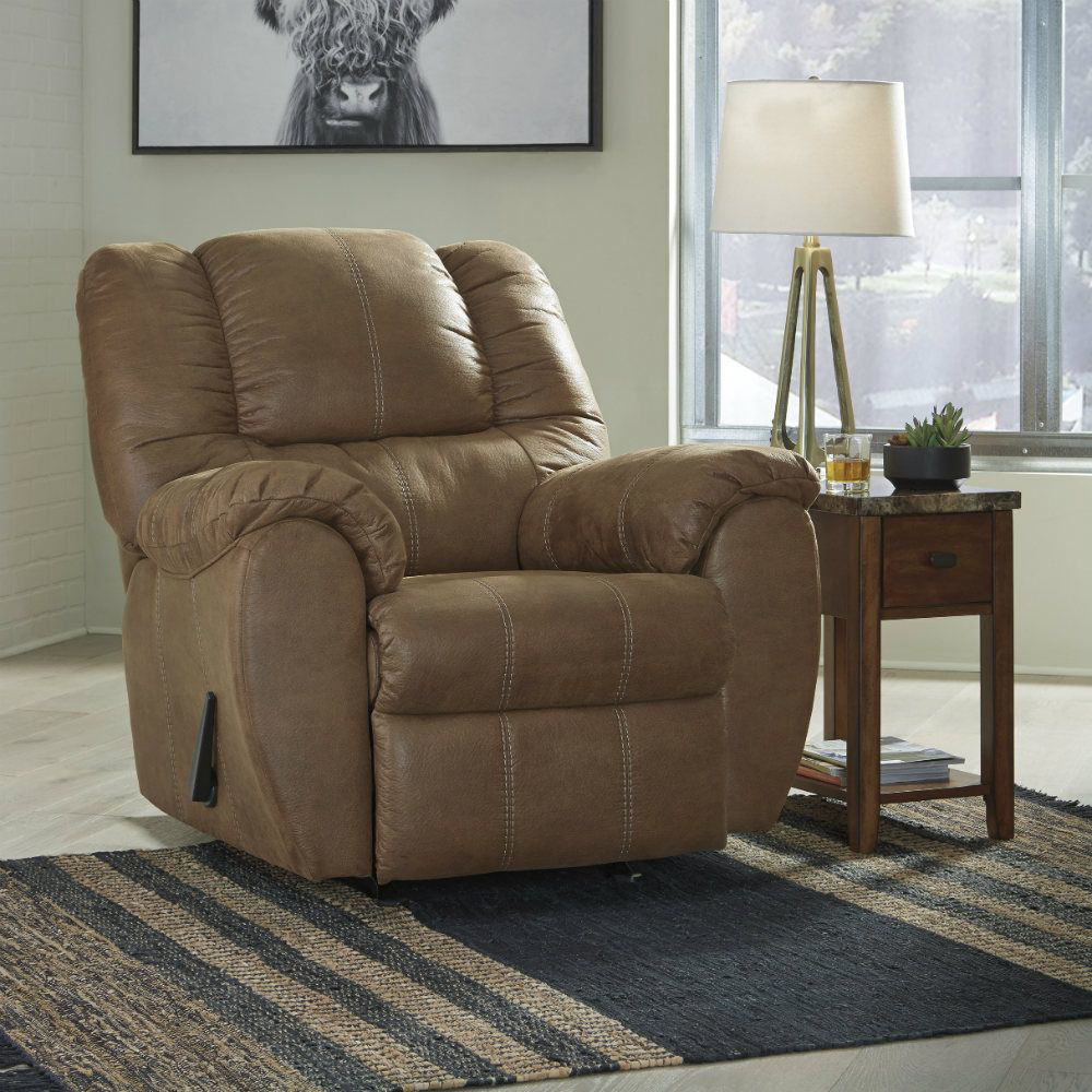 Mike Rocker Recliner - Saddle - Lifestyle