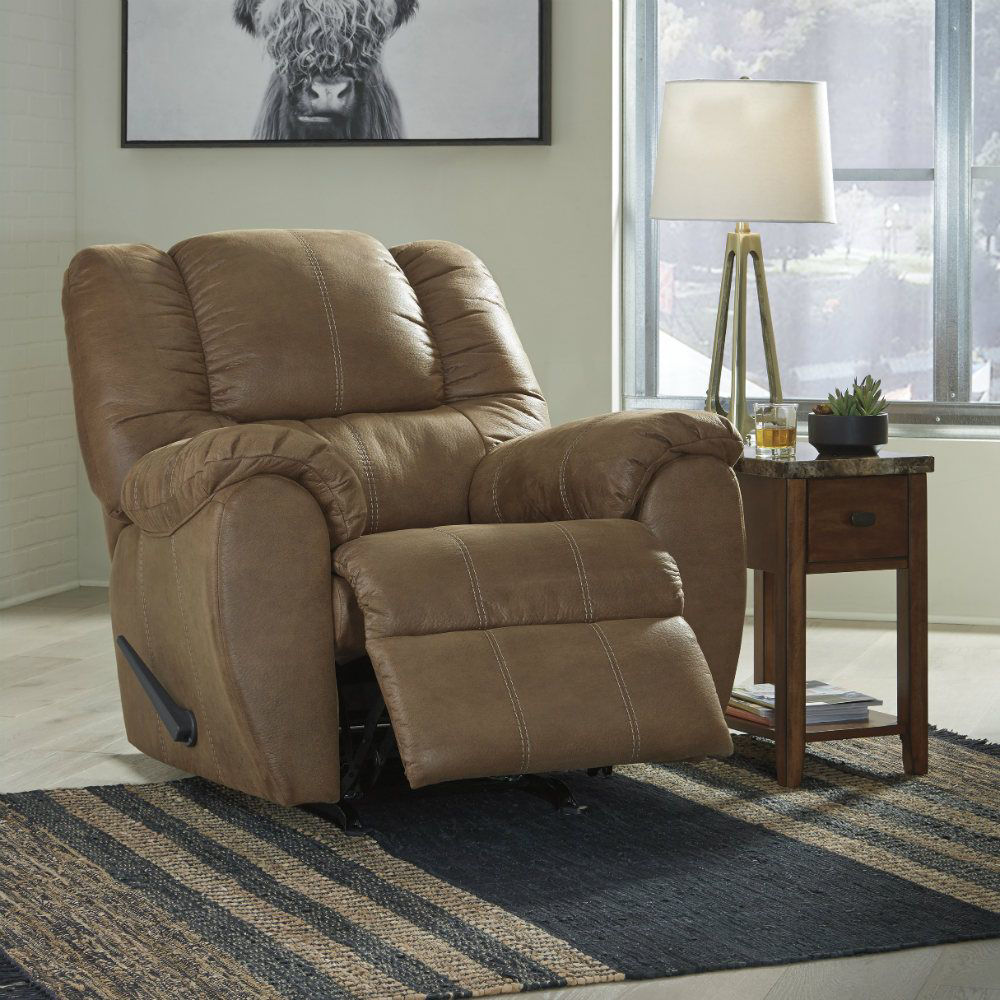 Mike Rocker Recliner - Saddle - Lifestyle Recline