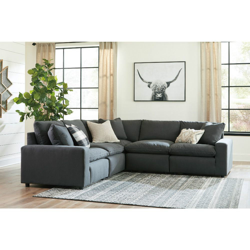 Zen 5-Piece Sectional - Charcoal - Lifestyle