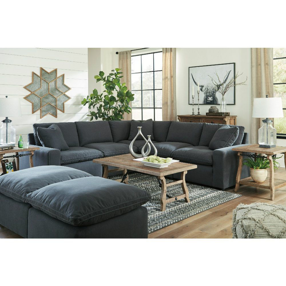 Zen 5-Piece Sectional - Charcoal - Collection