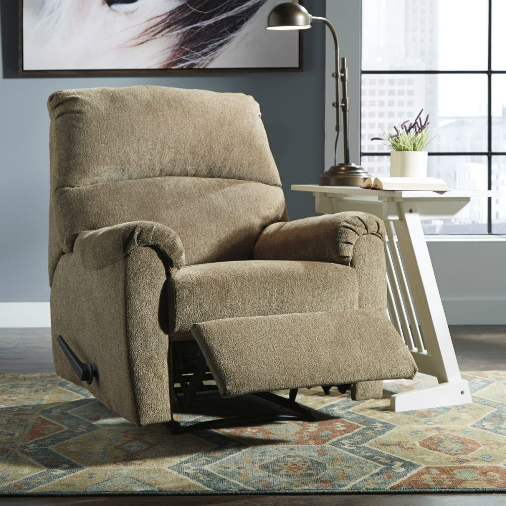 Neil Wall Recliner - Mocha - Lifestyle Recline