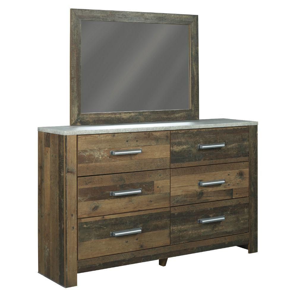 Raton Dresser and Mirror - Angle