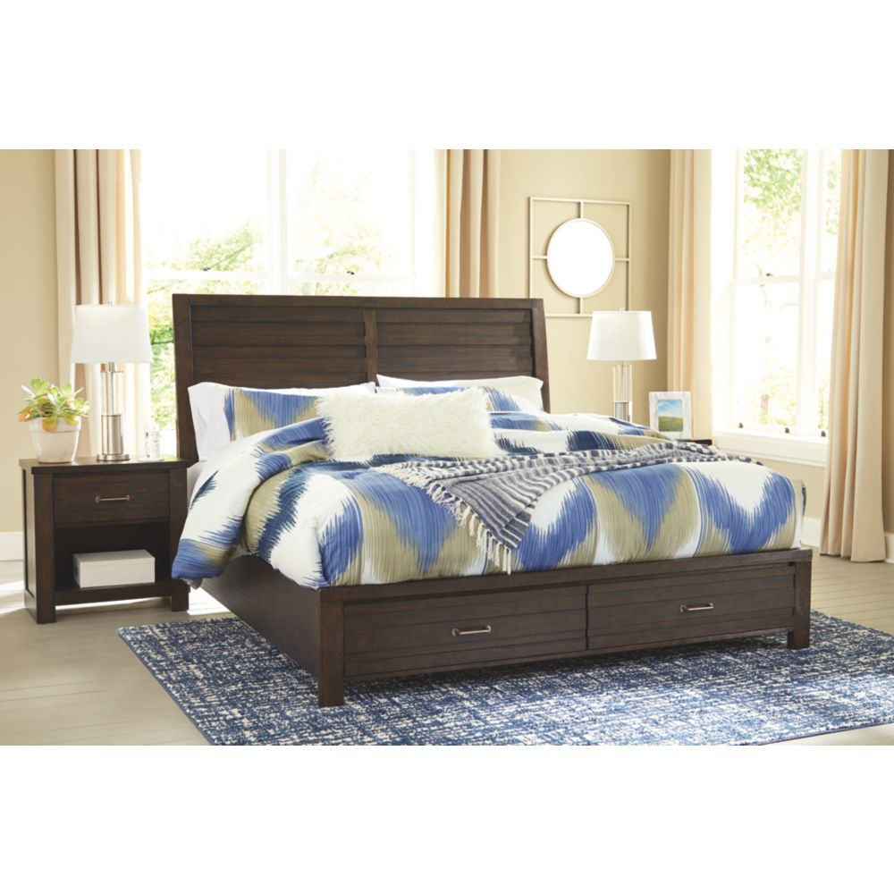 Denver Bed and Nightstand