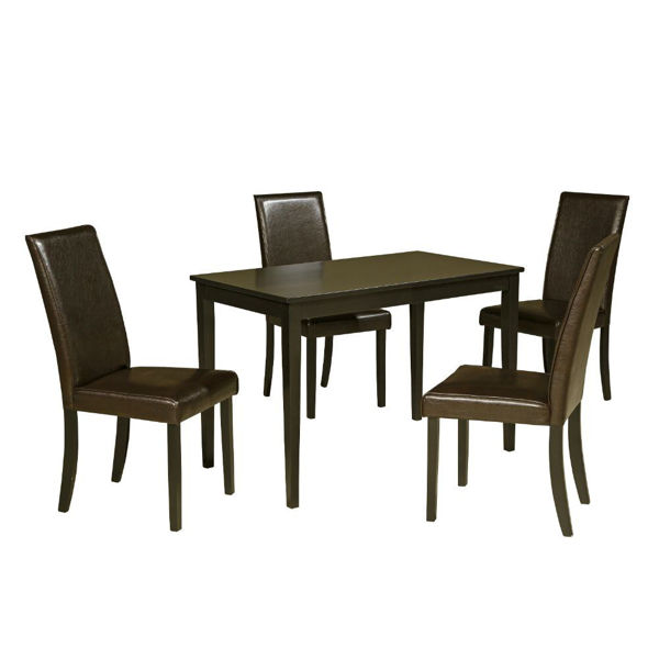 Picture of Aspen 5-Piece Dining Set - Dark Brown