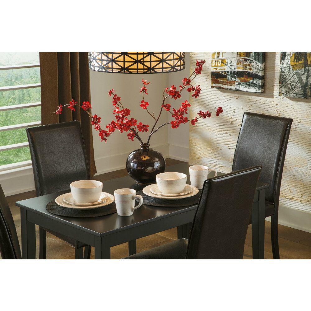 Aspen 5-Piece Dining Set - Brown - Mood