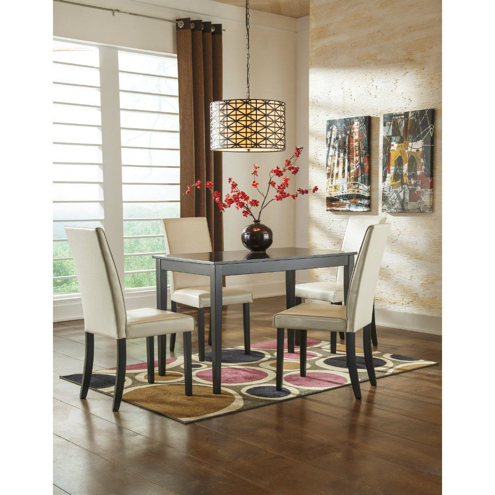 Aspen 5-Piece Dining Set - Ivory - Lifestyle