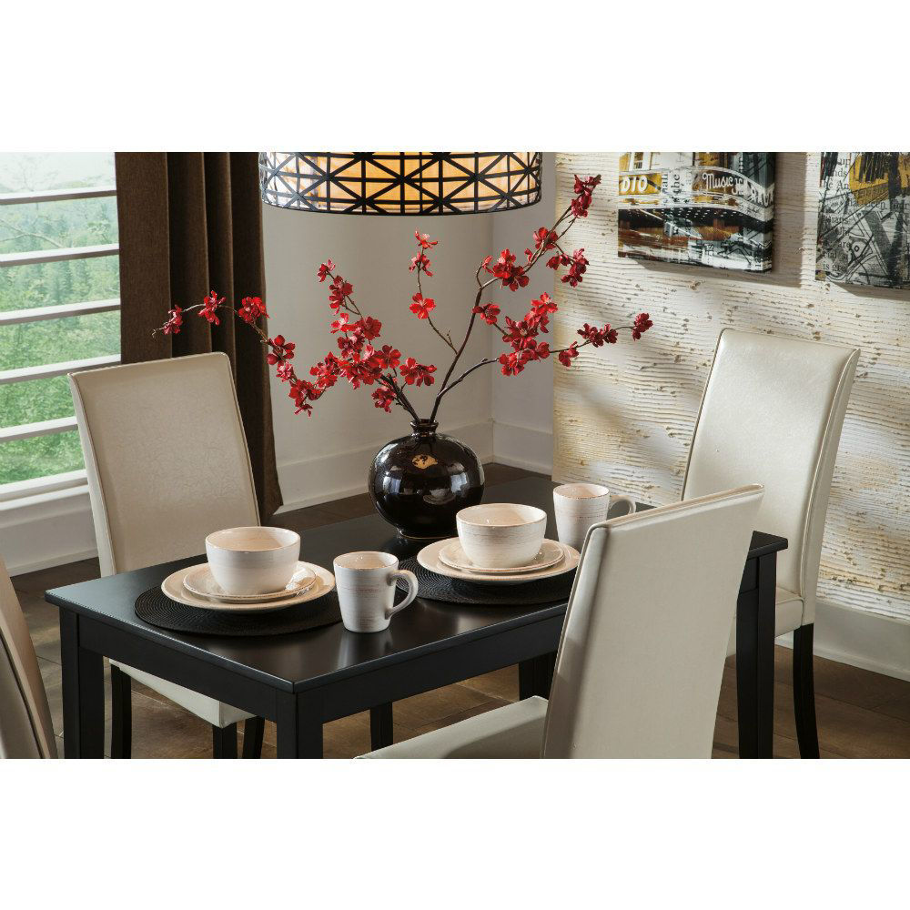 Aspen 5-Piece Dining Set - Ivory - Mood