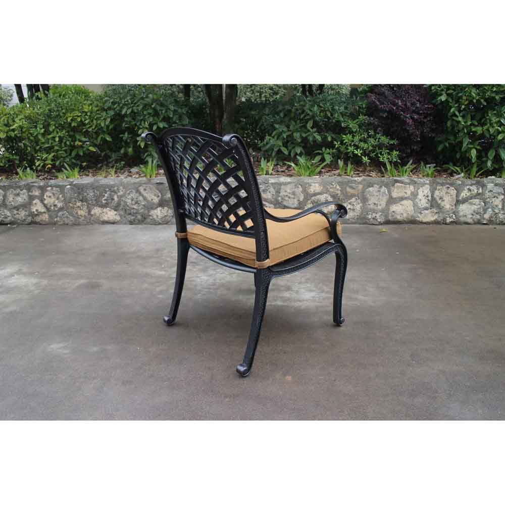 Taos Dining Arm Chair with Cushion Backside