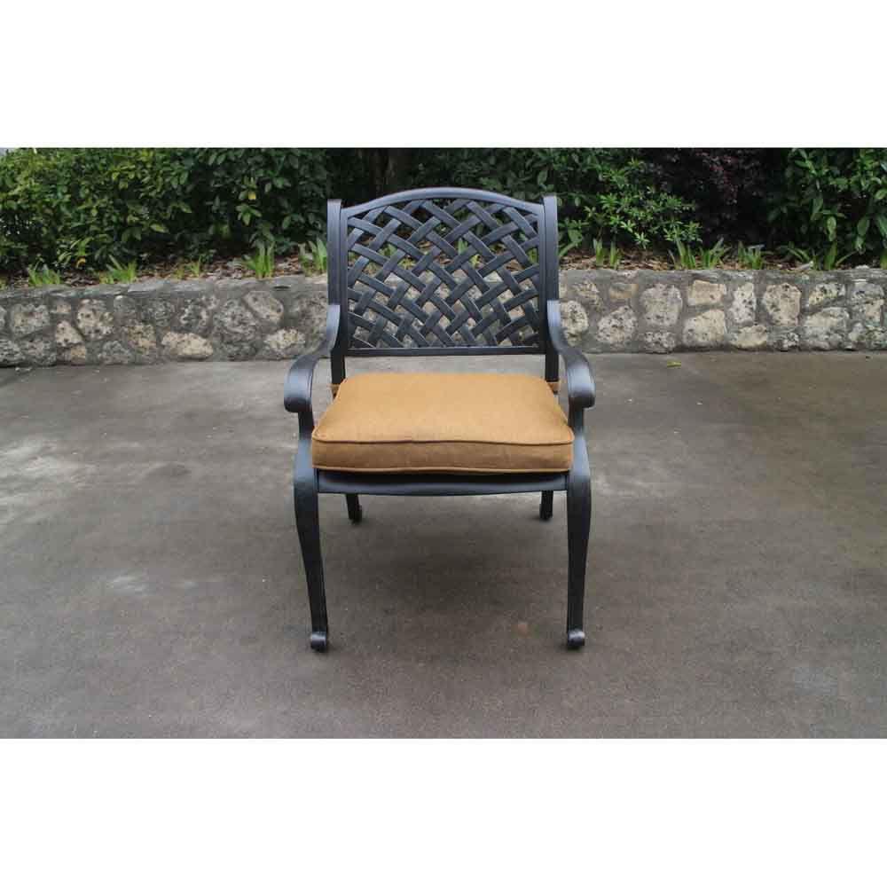 Taos Dining Arm Chair with Cushion Head On
