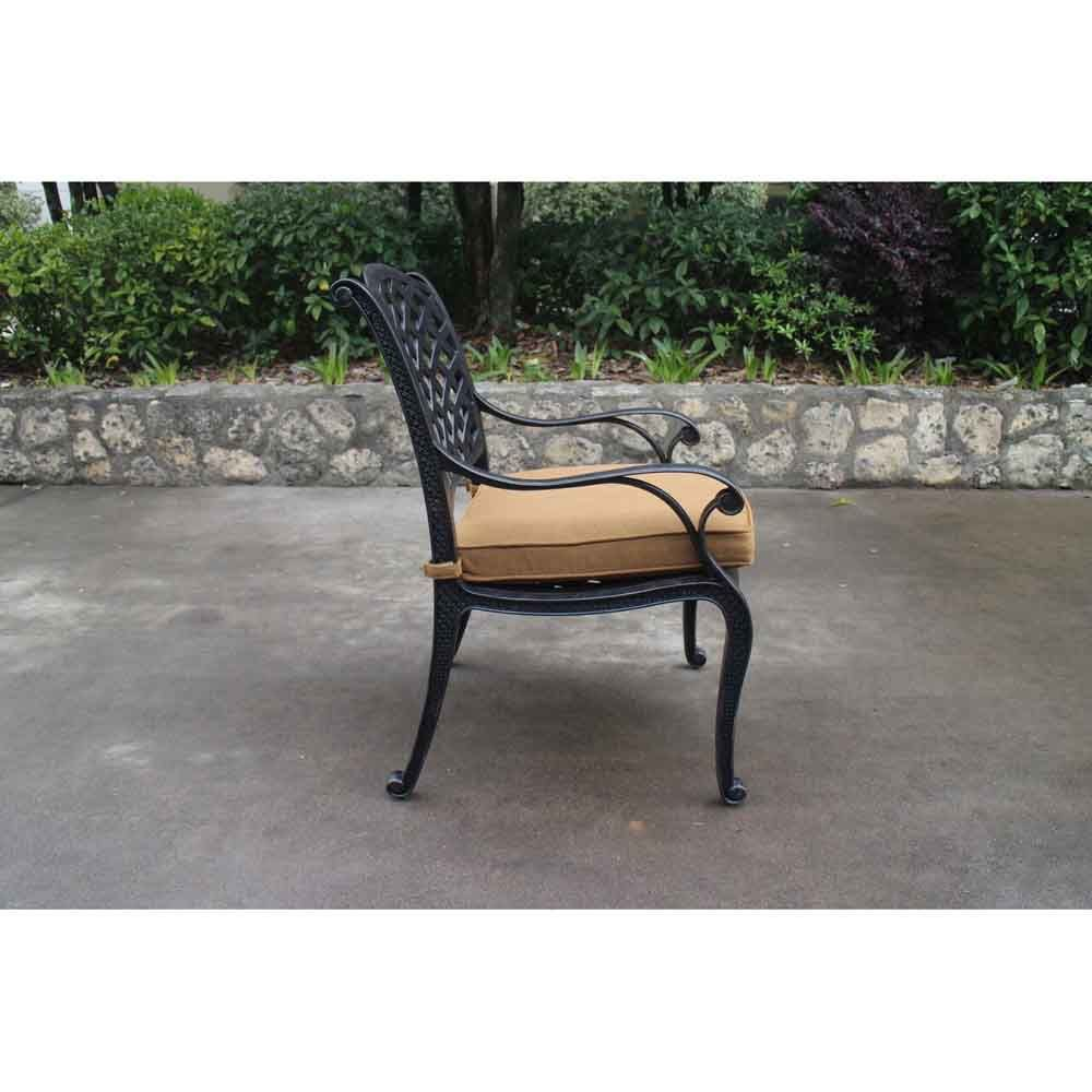 Taos Dining Arm Chair with Cushion Side