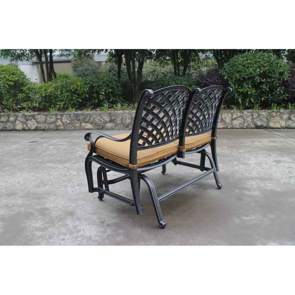 Taos Bench Glider With Cushions Backside