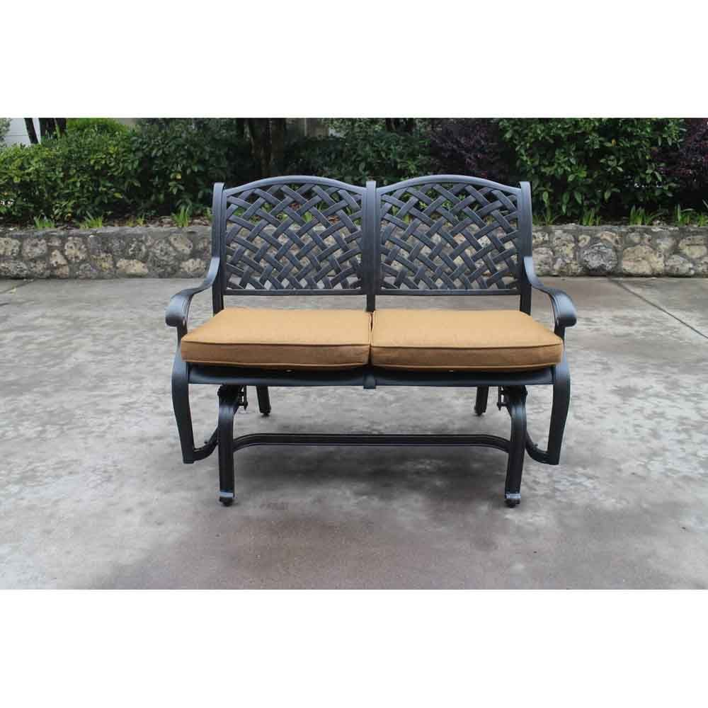 Taos Bench Glider With Cushions Front
