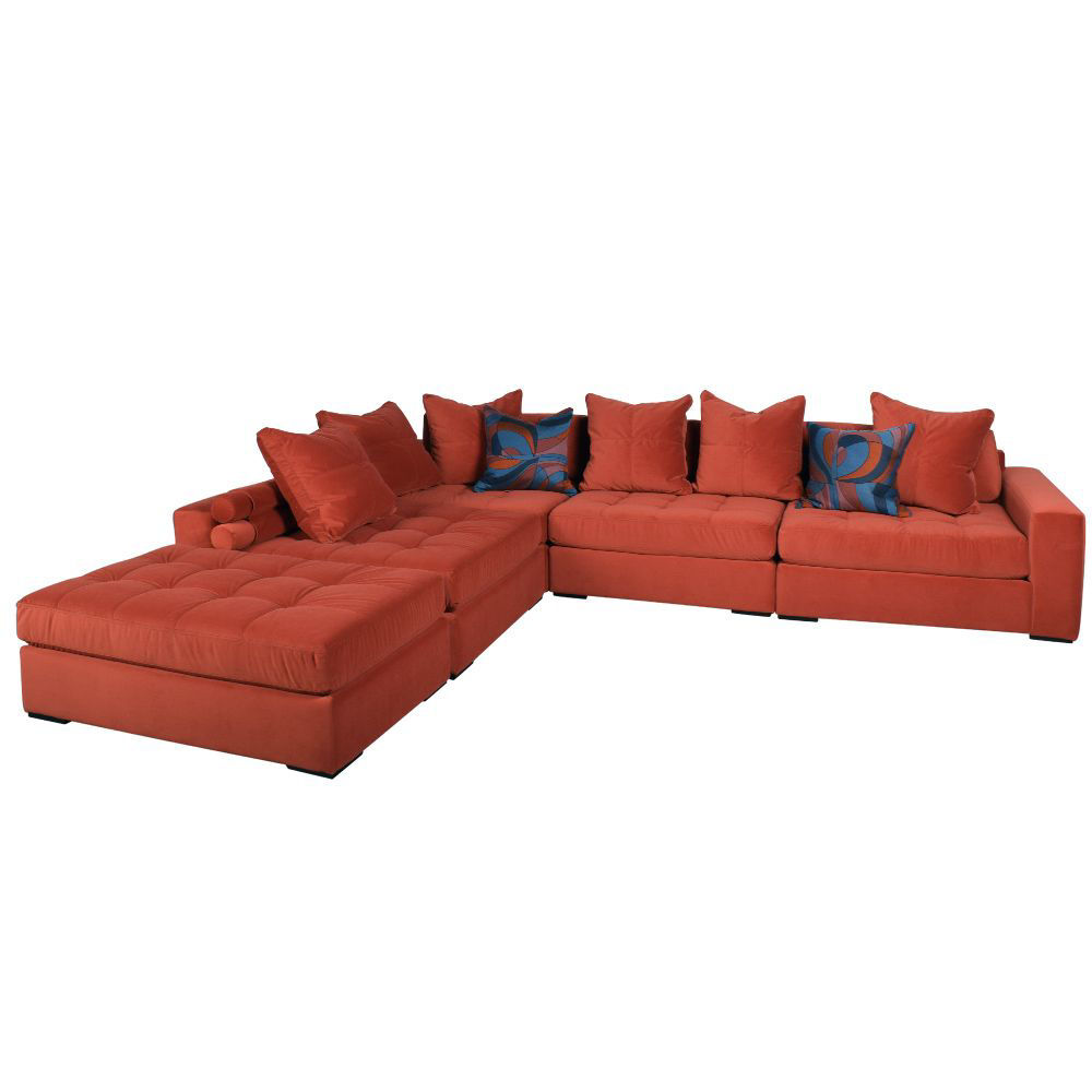Noah 5-Piece Sectional - Cayenne - Front