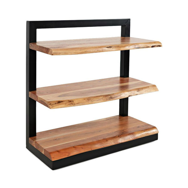 Natural Edge 3-Shelf Bookcase