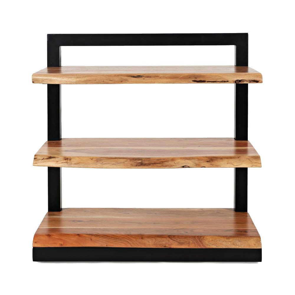 Natural Edge 3-Shelf Bookcase - Front
