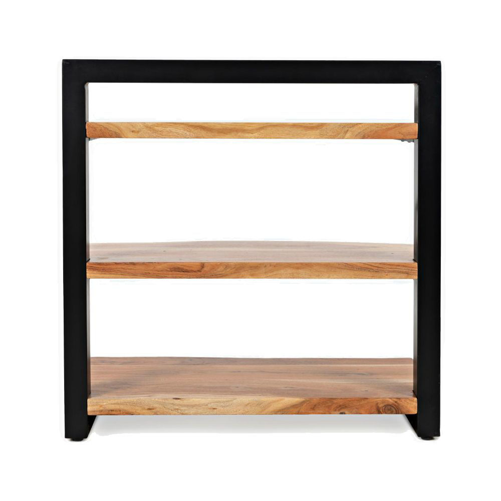 Natural Edge 3-Shelf Bookcase - Rear