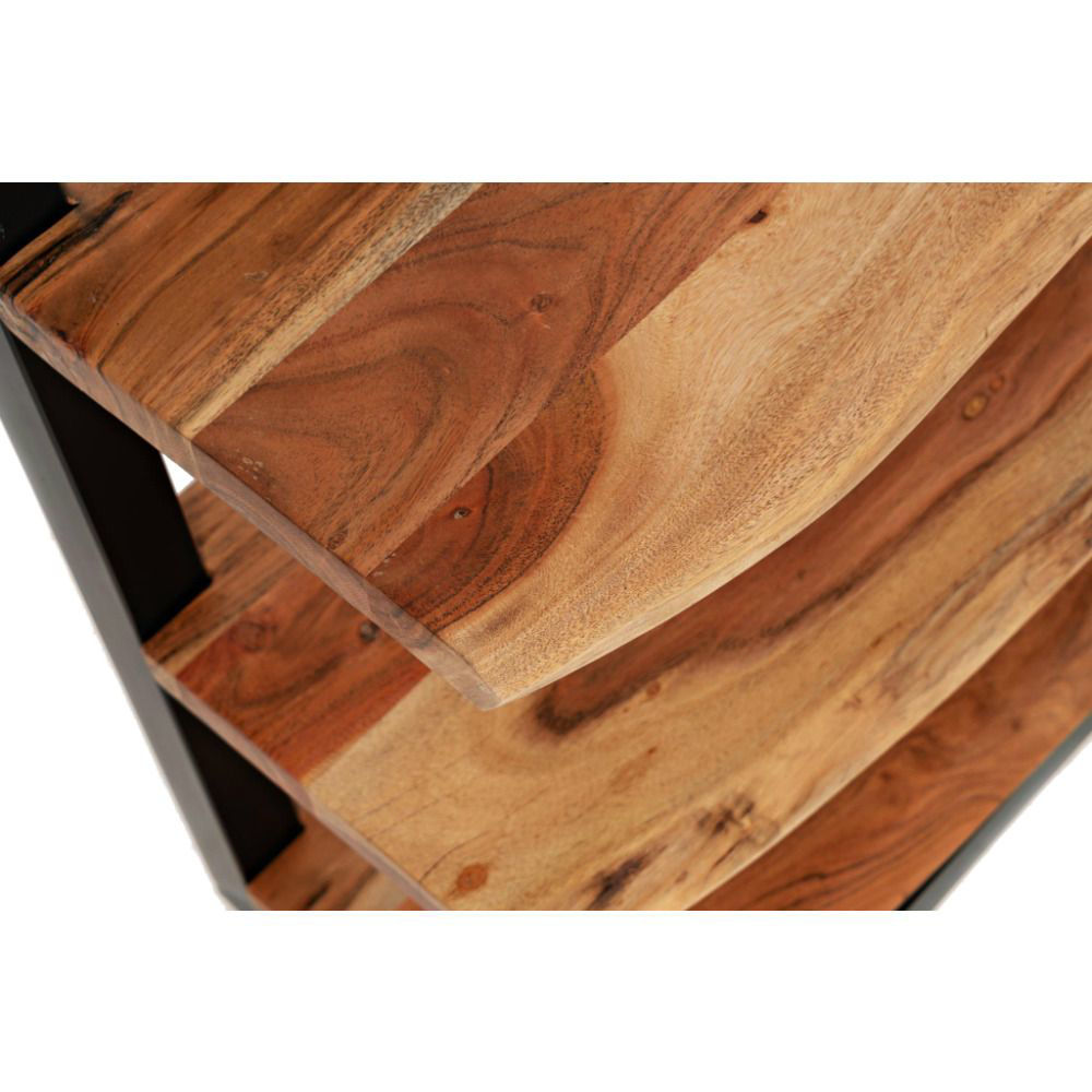 Natural Edge 3-Shelf Bookcase - Shelf Detail