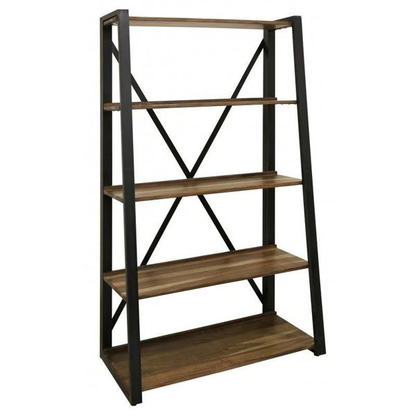 "Industrial Mixed 70"" Bookcase"