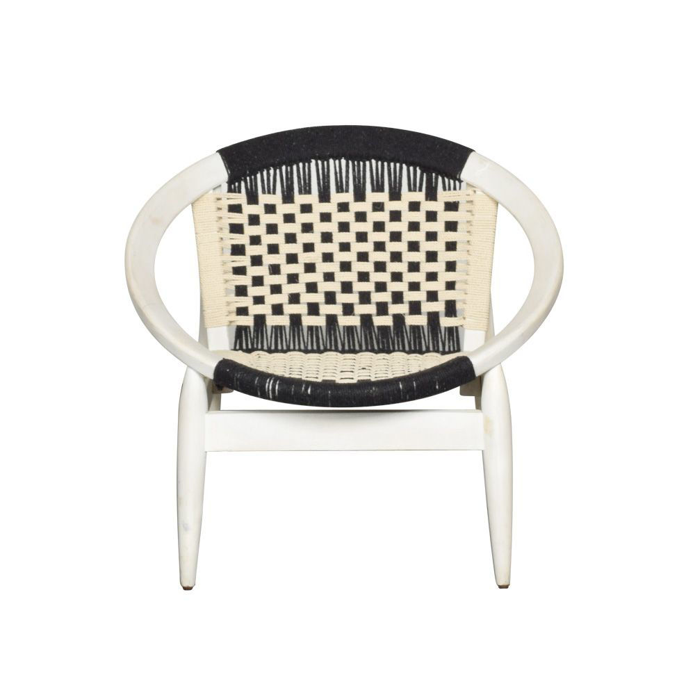 Fiona Woven Accent Chair - Front
