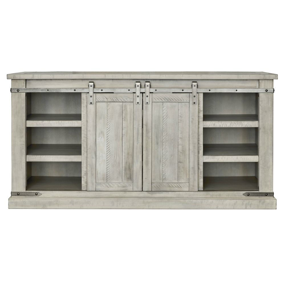 """Mariposa 60"""" Console - White - Front"""