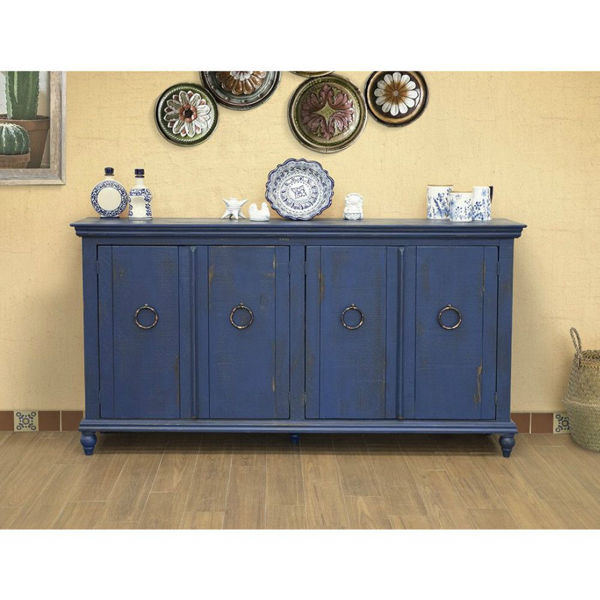 Picture of Versailles 4-Door Console - Blue