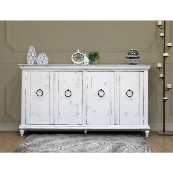 Picture of Versailles 4-Door Console - White