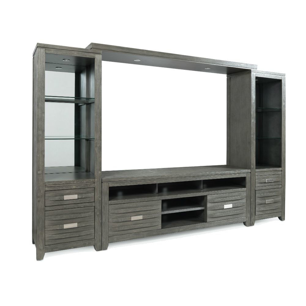 "Alta Entertainment Wall w/60"" Console - Gray - Angle"