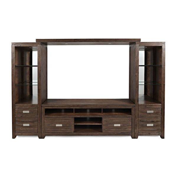 "Picture of Alta Entertainment Wall w/60"" Console - Walnut"