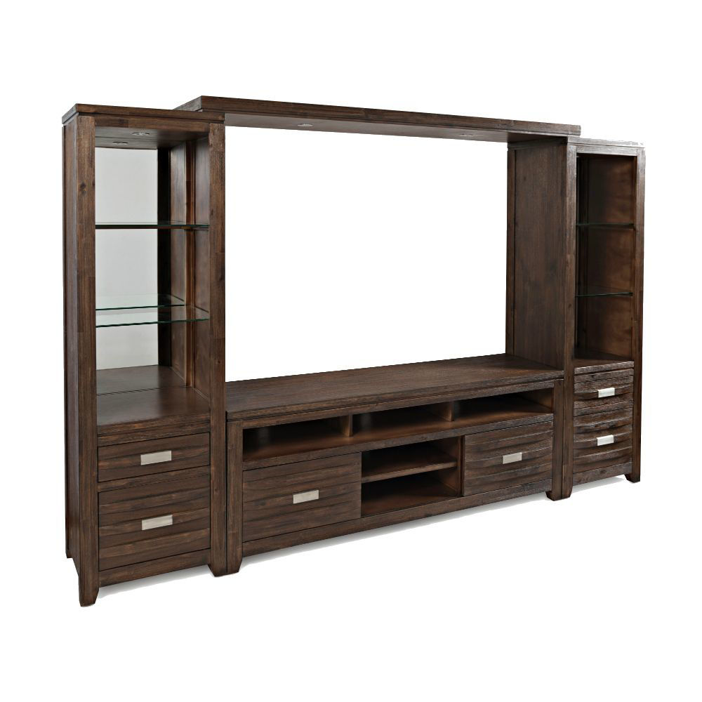 "Alta Entertainment Wall w/60"" Console - Walnut - Angle"