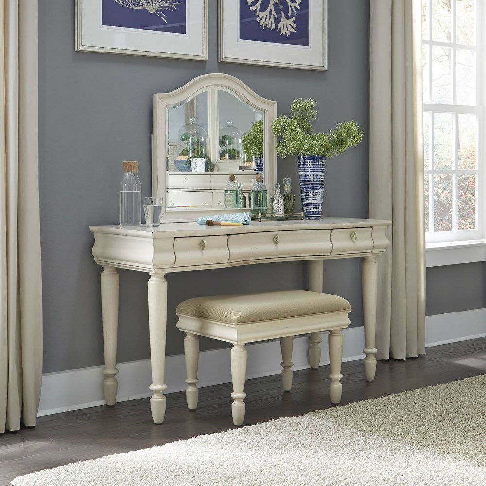 Rustic Traditions 3 Piece Vanity Set - White - Lifestyle