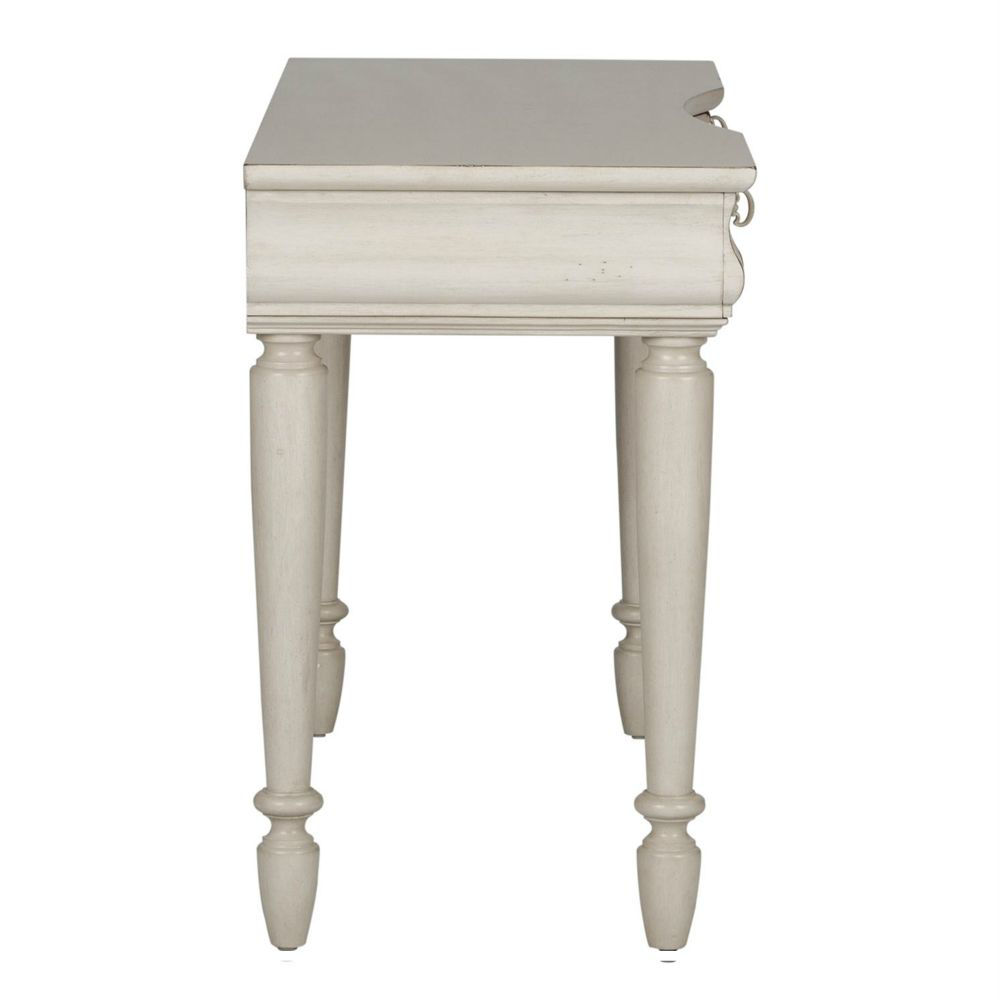 Rustic Traditions Vanity Desk - White - Side