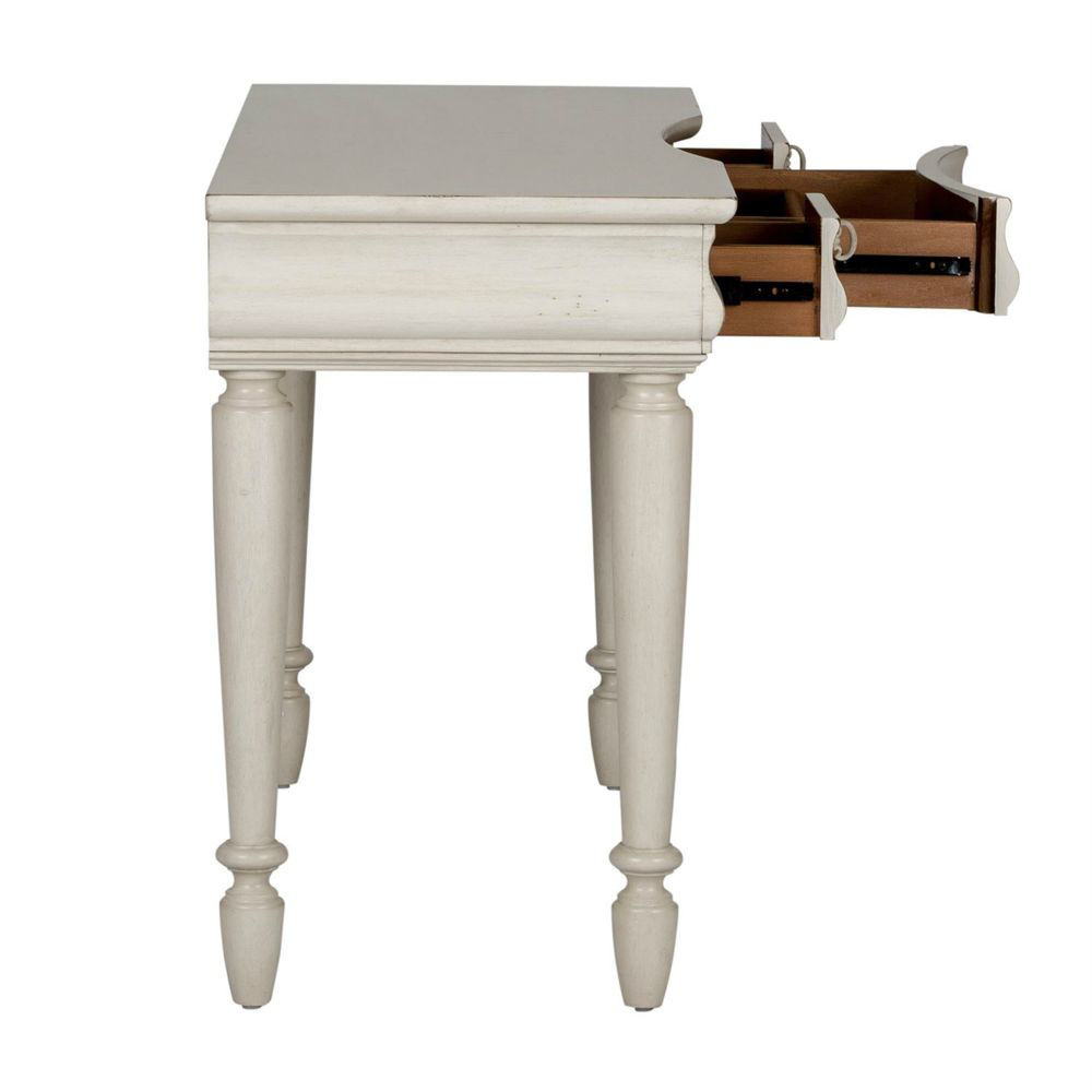 Rustic Traditions Vanity Desk - White - Side Drawers