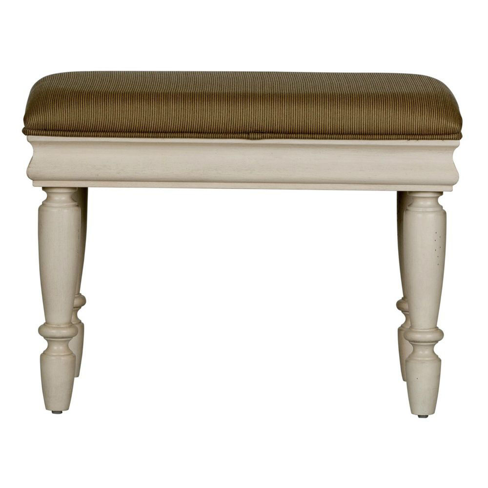 Rustic Traditions Vanity Stool - White - Front