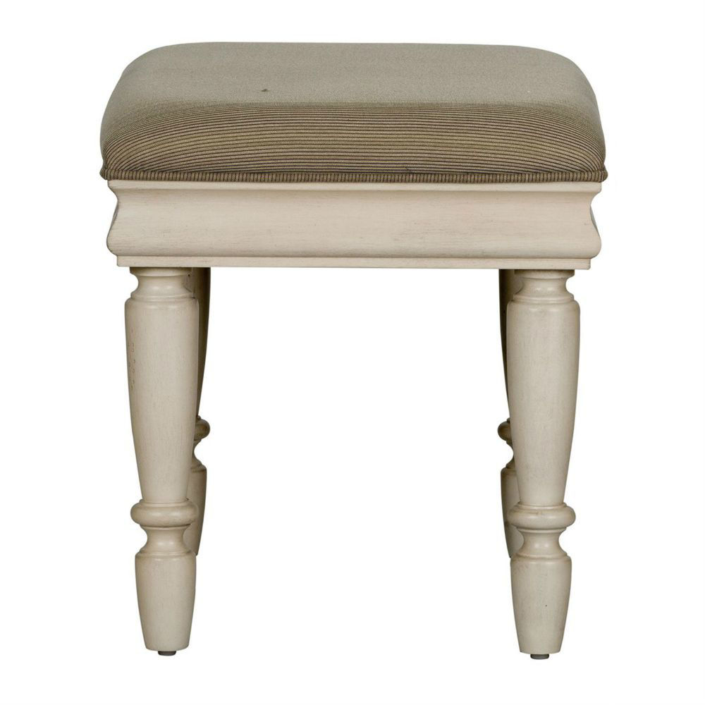 Rustic Traditions Vanity Stool - White - Side
