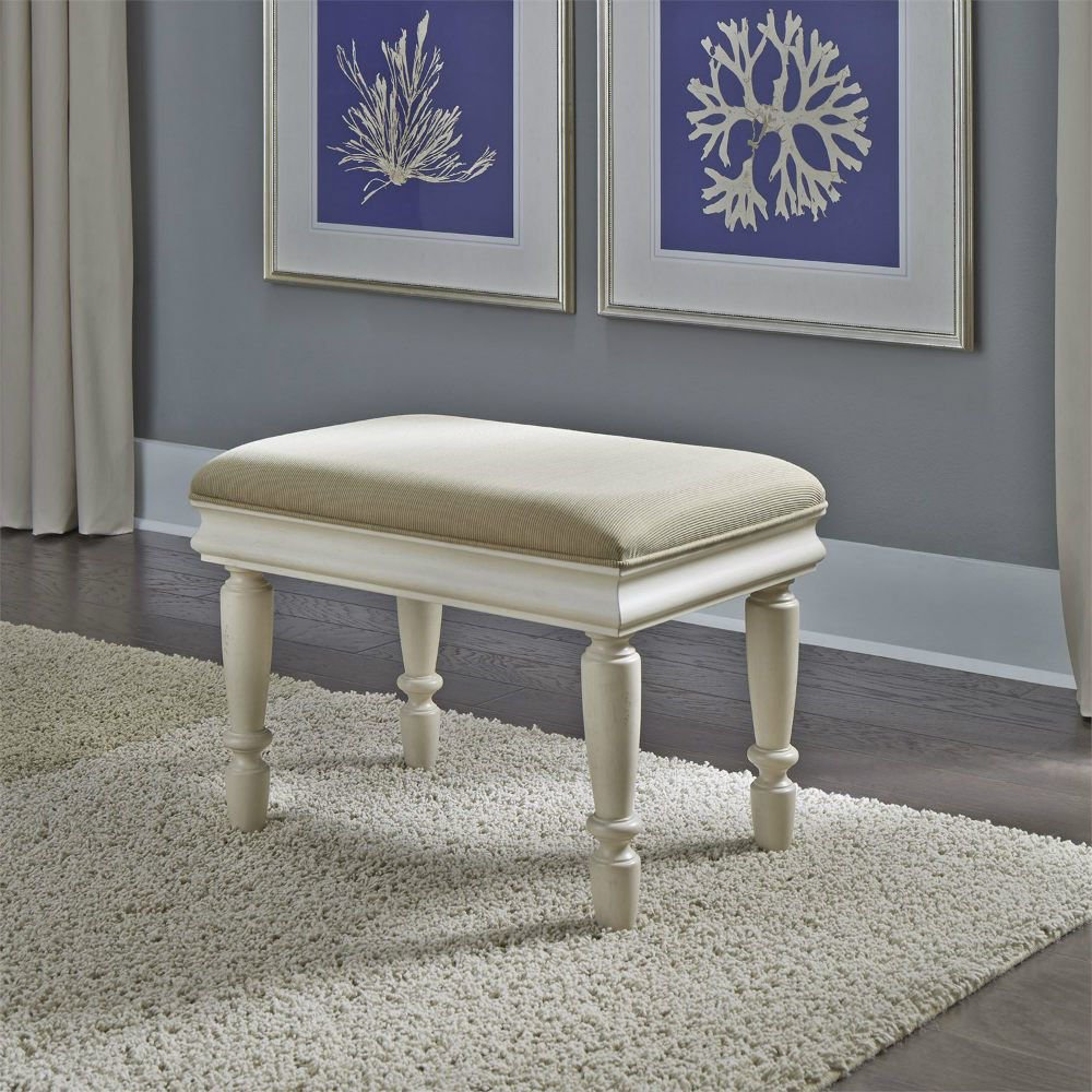 Rustic Traditions Vanity Stool - White - Lifestyle