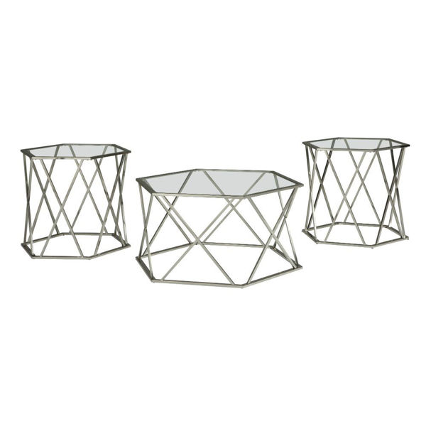 Axzekel Cocktail Table & 2 End Tables
