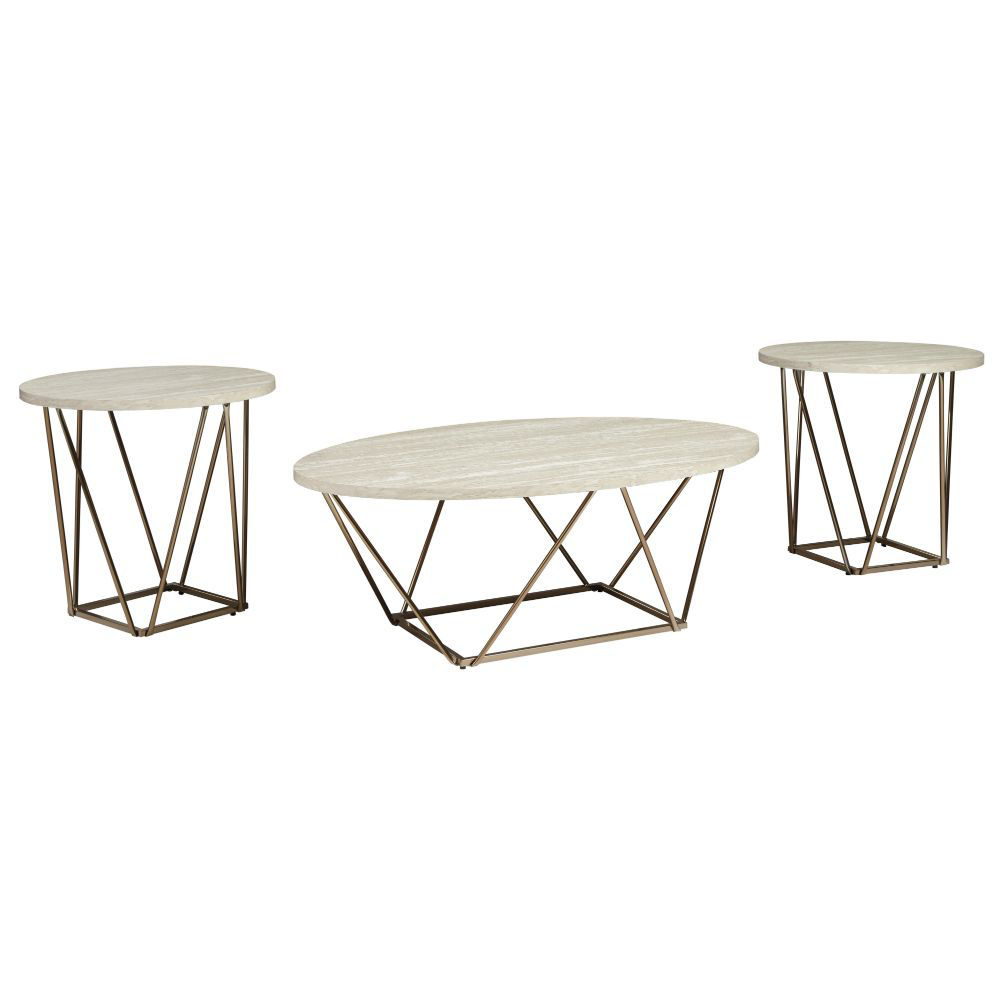 Gracie Cocktail Table & 2 End Tables - Angle