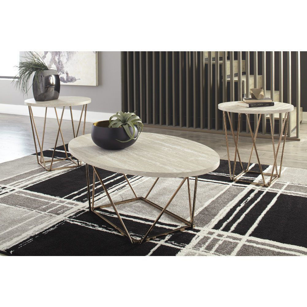 Gracie Cocktail Table & 2 End Tables - Lifestyle