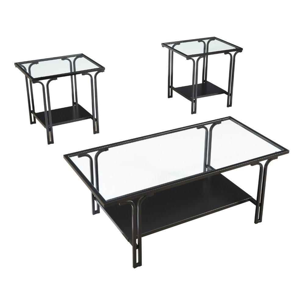 Joshua Cocktail Table & 2 End Tables - Angle