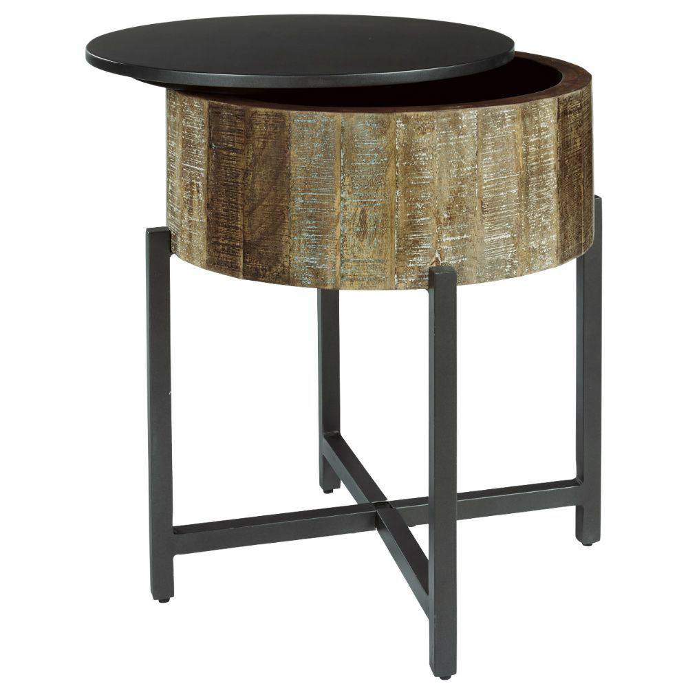 Lazer Round End Table - Open Top