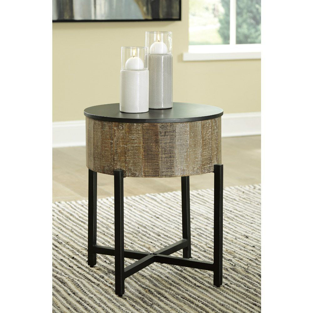 Lazer Round End Table - Lifestyle