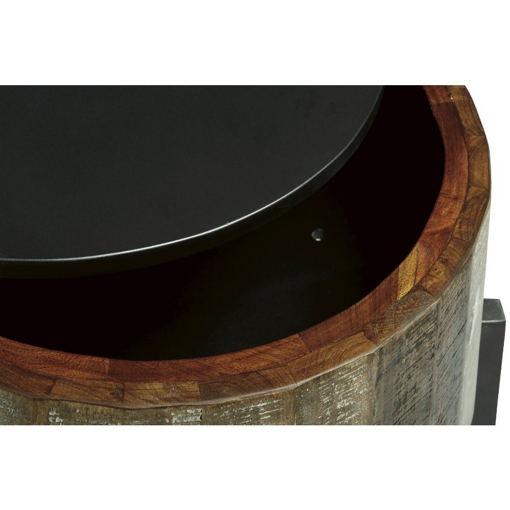 Lazer Round End Table - Lifestyle - Open Top - Detail