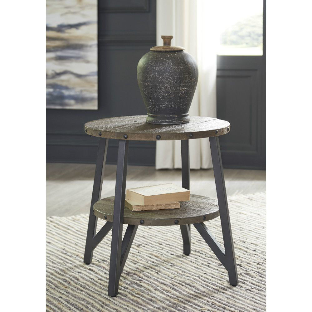 Urban Plank End Table - Lifestyle